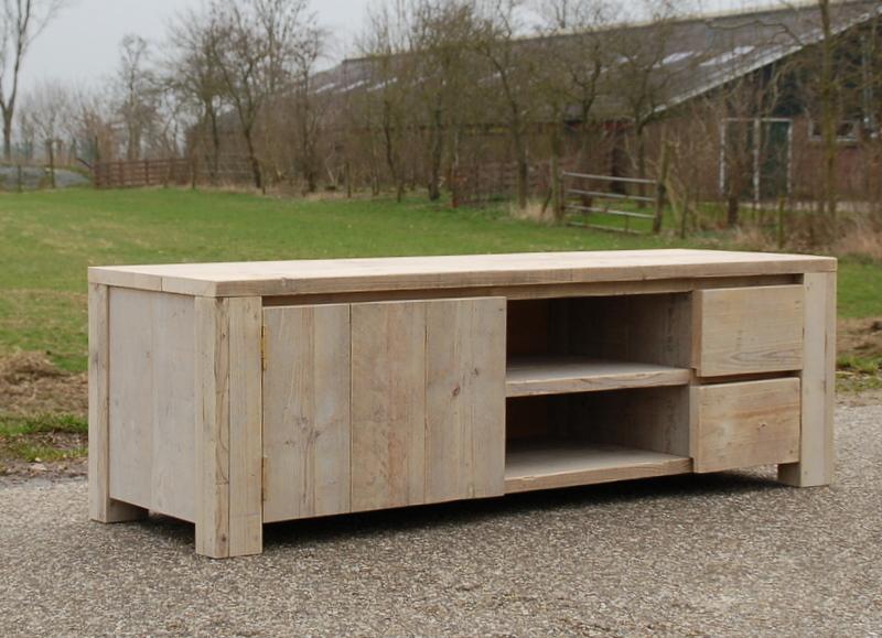 Bauholz Audio-Möbel mit Schubladen Oldehamm